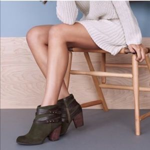 BP. Block Green Train Trolley Suede Boots Ankle